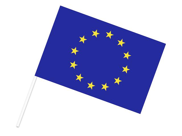 EU(ヨーロッパ連合) 手旗フラッグ 30×45cm ポンジ 手旗フラッグ 国旗 ...